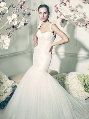 The 'Truly Zac Posen' line, available only at David's Bridal.