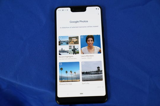 In Google Photos, you can choose to view recent highlights or specific albums created for display on the Home Hub.