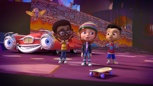 Ben, left (without wings), and his friends go on adventures in Netflix's 'Motown Magic,' which features newly recorded versions of classic hit songs.