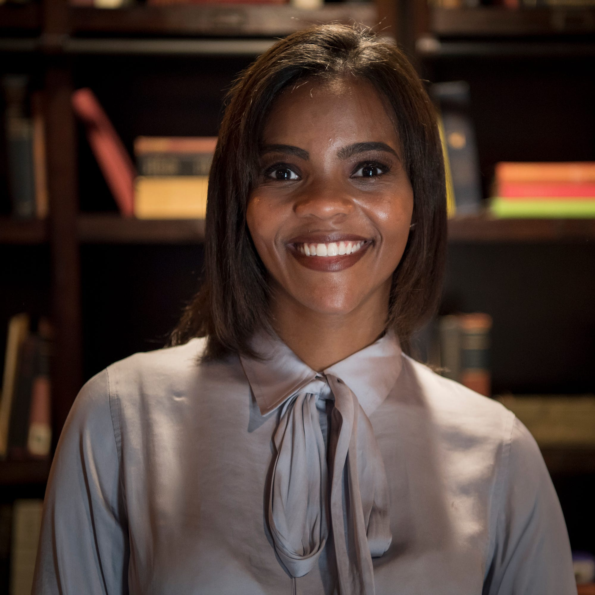 Candace Owens backstage at Liberty University's convocation on Sept. 26, 2018.