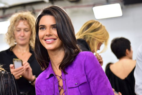 Kendall Jenner attends the Longchamp Spring/Summer 2019 Runway Show at World Trade Center on Sept. 8, 2018 in New York.