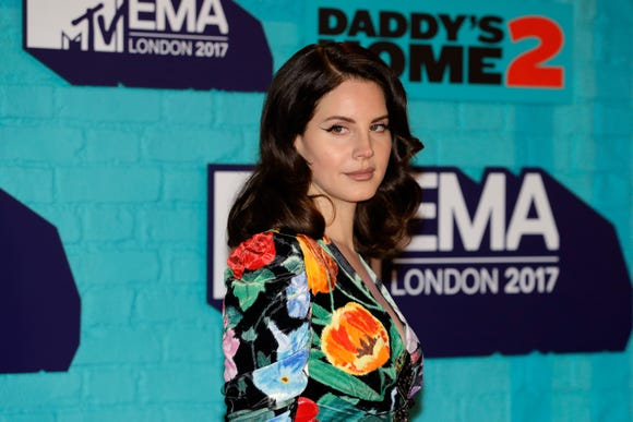 Lana Del Rey attends the MTV EMAs 2017 held at The SSE Arena, Wembley on Nov. 12, 2017 in London