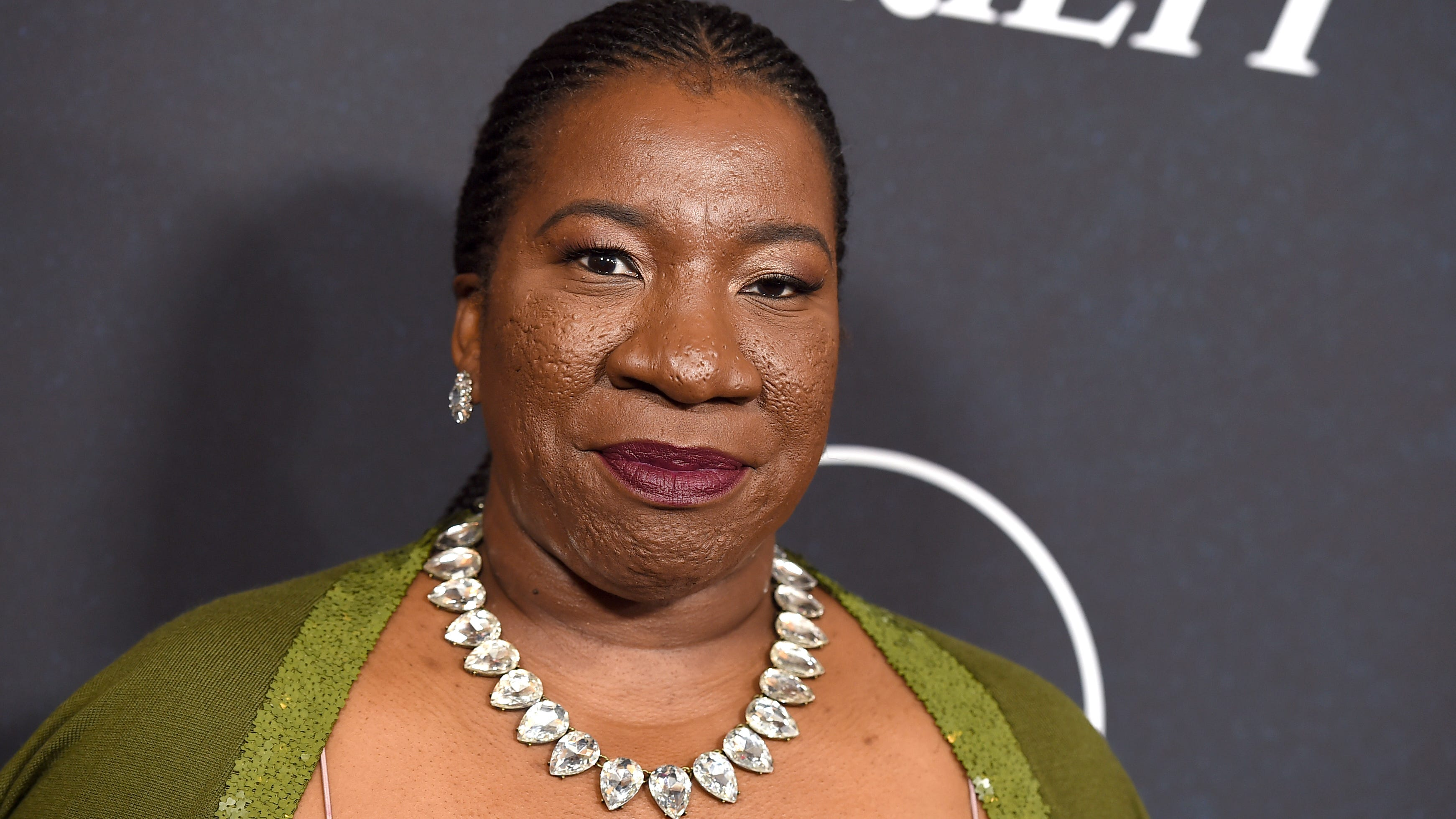 Tarana Burke arrives at Variety's Power of Women event on Oct. 12, 2018, at the Beverly Wilshire hotel in Beverly Hills, Calif.