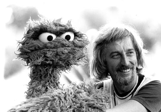 Caroll Spinney is also the voice of Oscar The Grouch.