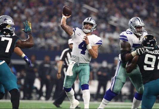 e7be10ce191 Dallas Cowboys: Dak Prescott isn't offense's problem, Jerry Jones says