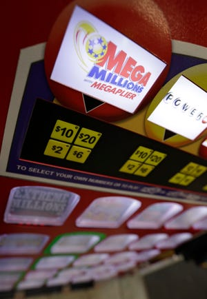 The Mega Millions game is shown on a win station at the Corner Market, Wednesday, Oct. 17, 2018, in Lyndhurst, Ohio.