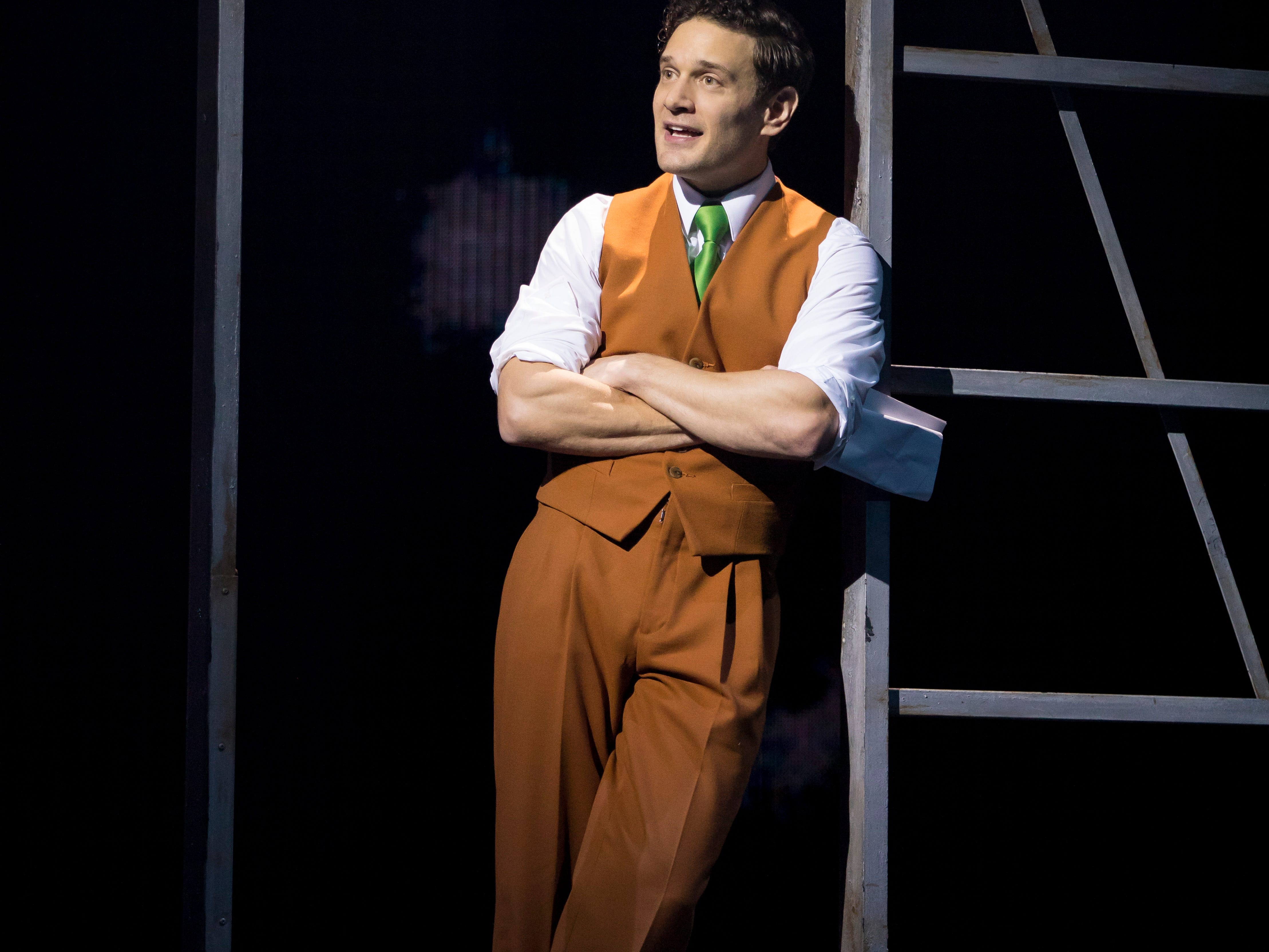 "Eric William Morris as Carl Denham in ""King Kong"" on Broadway."