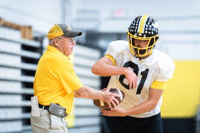 David Gentry, head coach of the Murphy high school football team, during practice Oct. 16, 2018.