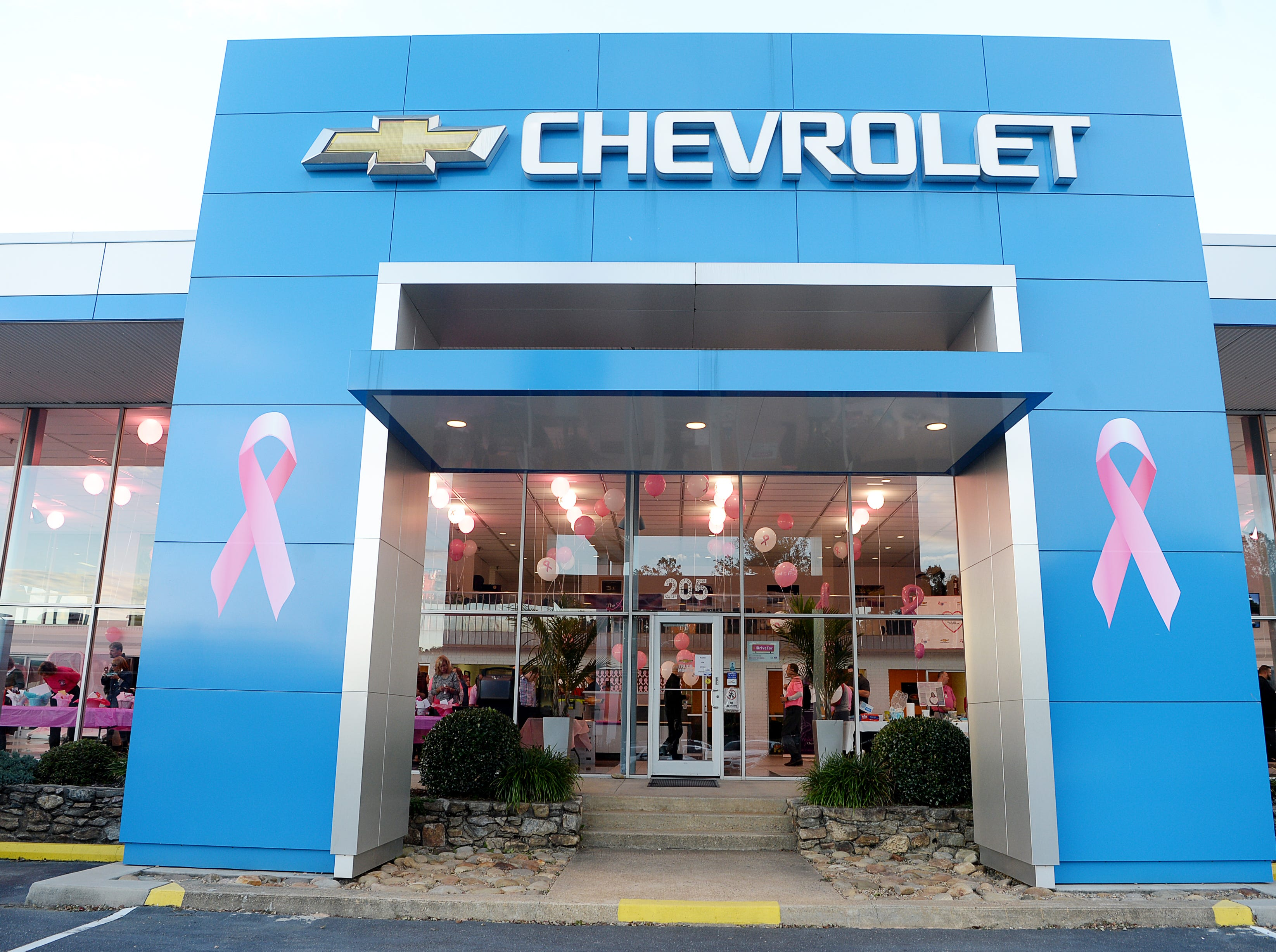 The #IDrive4 breast cancer fundraiser benefitting The Hope Chest for Women was held at Asheville Chevrolet Oct. 18, 2018. During the month of October, the dealership is donating $5 for every #AshevilleChevyDrives4 hashtag on Instagram and Twitter.
