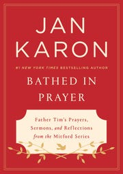 """The cover of Jan Karon's """"Bathed in Prayer"""""""