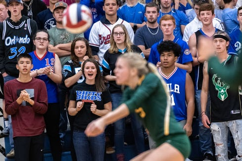 West Henderson defeated Reynolds in their WMAC tournament championship volleyball game Oct. 18, 2018.