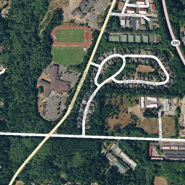 The Bainbridge Island Police Department is investigating a report that a suspect confronted and inappropriately touched a student in an encounter Monday on a trail near Woodward Middle School.