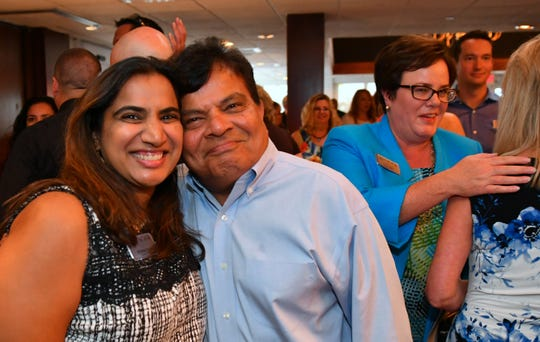 Monica and Mike Shah at the LEAD Brevard Class of 2017 graduation at the Eau Gallie Yacht Club,