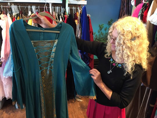 Medieval-themed costumes are big this year, according to Laurie Browne of the Triple Loop Costume Shop in Essex Junction.