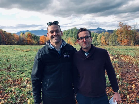 Rich Gardner (left), and David Parsons of RE/MAX North Professionals are representing the owners of a 766-acre property in Stowe.