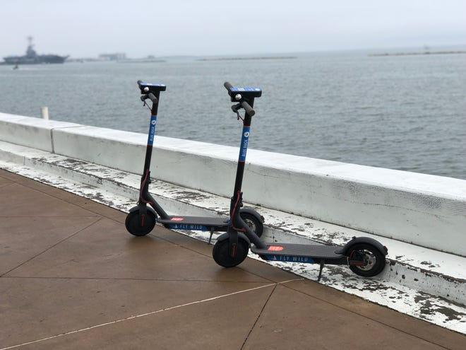 Blue Duck scooters are now available for use in downtown Corpus Christi.