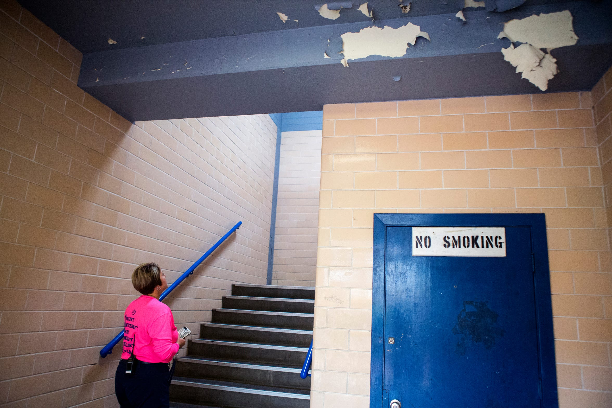 Carroll High School has multiple staircases, which open to the outdoors and are exposed to the elements. During rainy days, there are safety concerns that students may slip and fall, said principal Kelly Manlove. The Corpus Christi ISD Board of Trustees has called for a $210,770,000 bond referendum which would allow for a new campus to be built on Saratoga Boulevard and Weber Road. Carroll High School was built in 1957. The bond also includes several other projects.