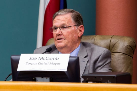 Mayoral candidate Joe McComb participates in a League of Women Voters-Corpus Christi forum on Thursday, October 18, 2018 at City Hall.