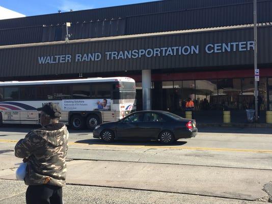 Rand Transportation Center patron