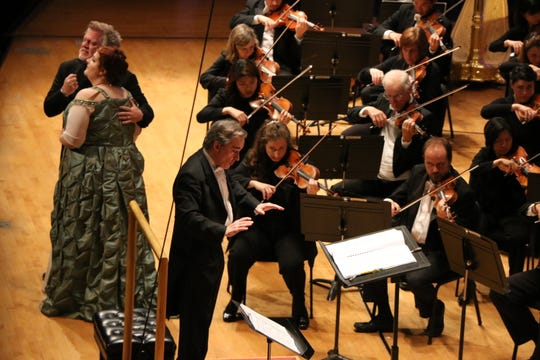 Gregory Kunde as Otello and Tamara Wilson as Desdemona sing the love duet in Verdi's Otello with James Conlon conducting the CSO and May Festival Chorus. Conlon returns to the festival in 2019 after stepping down as music director in 2016.