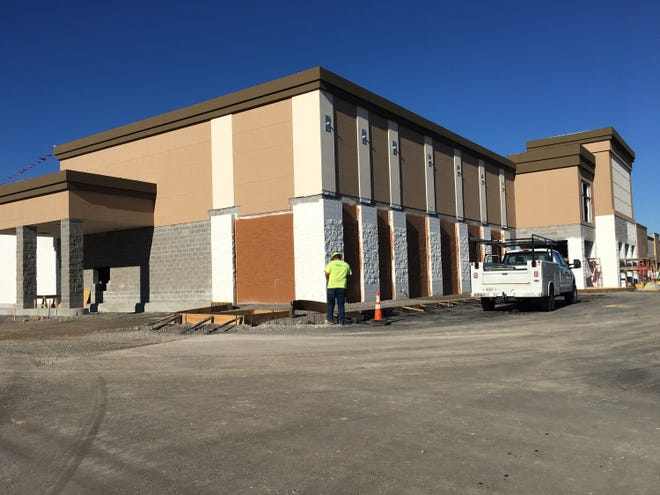 The new Publix at Sango Square remains under construction.