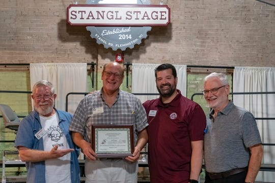 (Left to right) Rusty Williams, president and assistant; Don Reckenbeil, director; Christian Hunter, immediate past president and district representative; and Mark Bentley, assistant.