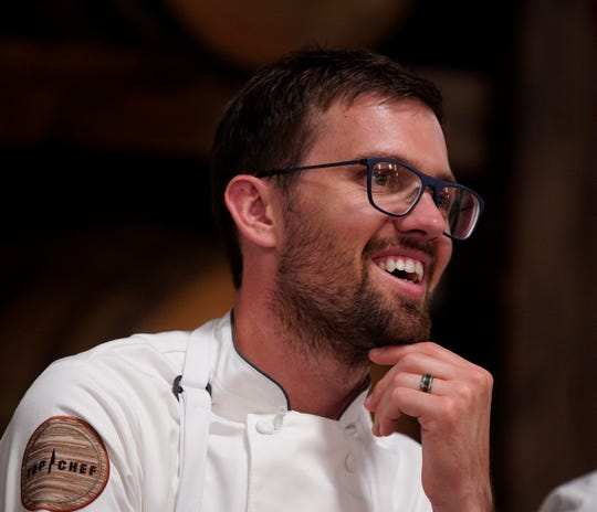 "Iowan Kevin Scharpf is a contestant on season 16 of ""Top Chef."""
