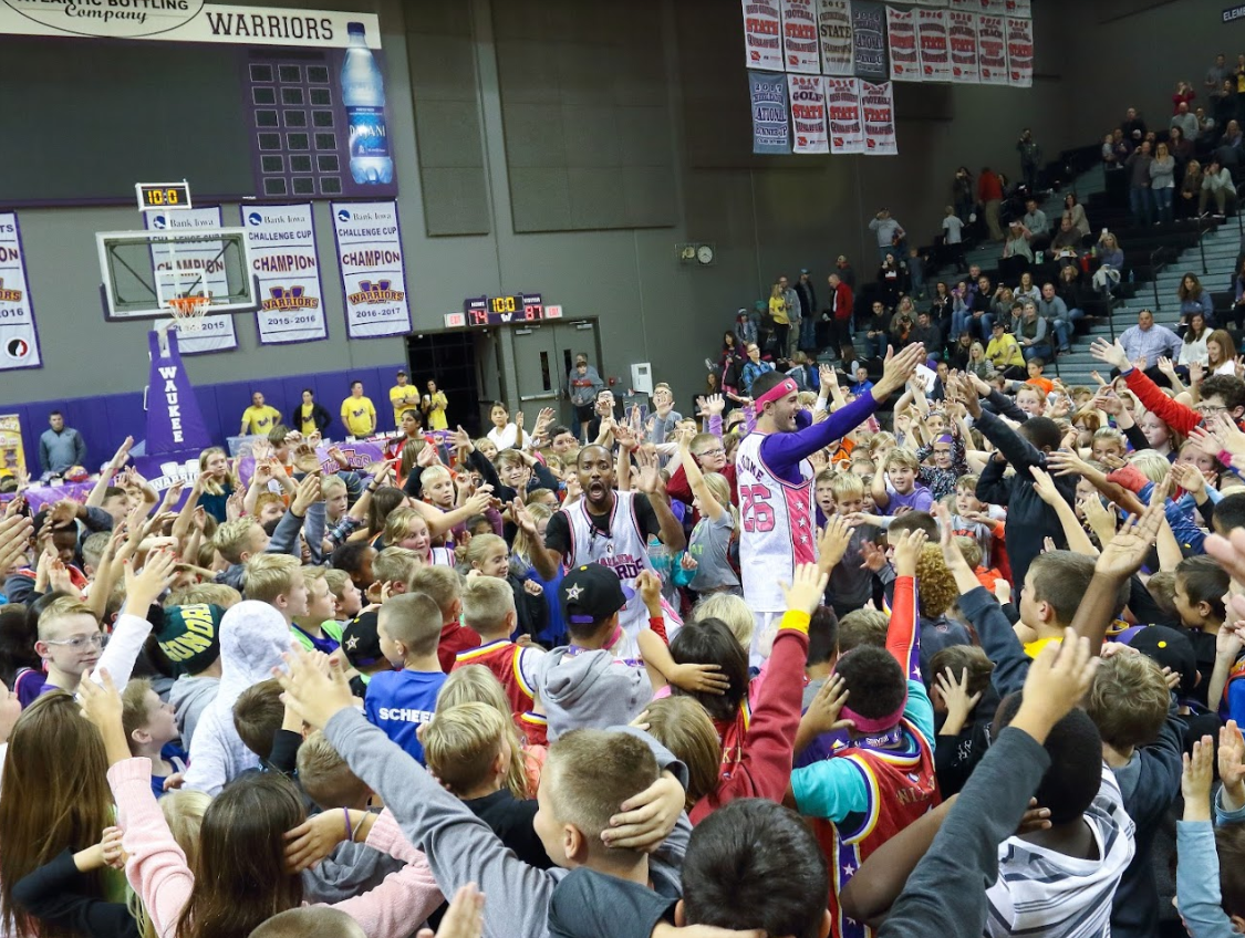 The Waukee Community Schools Foundation hosted the Harlem Wizards for a fundraising event on Oct. 15, 2018, in Waukee. The Harlem Wizards, started in 1962, are a show basketball group that attends fundraisers for schools and nonprofits across the country.