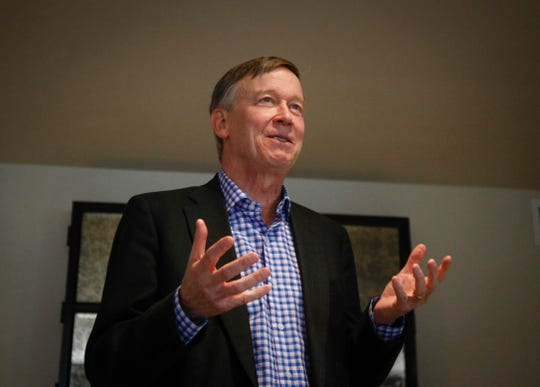Former Colorado Gov. John Hickenlooper Jr., considered a centrist Democrat, announced his plans to run for president on March 4, 2019.