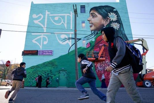 New Mural In Detroit Near Hamtramck Border Celebrates Bangladeshis