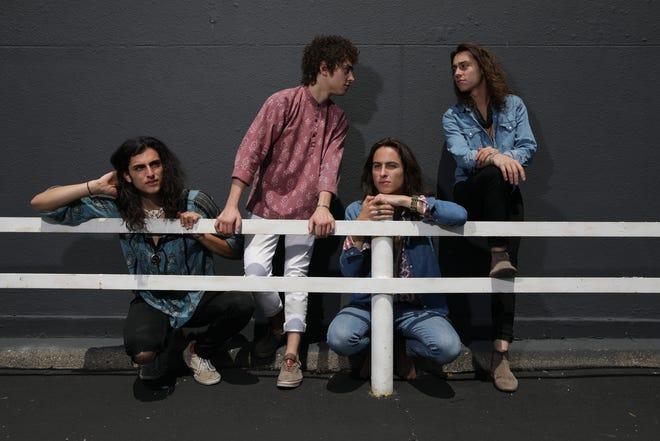 The rock band Greta Van Fleet photographed on May 24, 2018, in Detroit. From left are drummer Danny Wagner, vocalist Josh Kiszka, bassist Sam Kiszka and guitarist Jake Kiszka.
