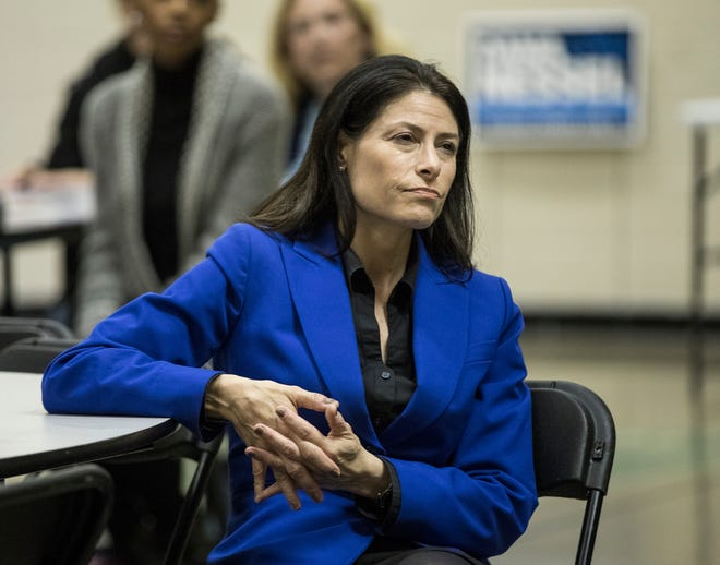 Democratic attorney general candidate Dana Nessel during a town hall at Hope United Methodist Church in Southfield, Thursday, October 11, 2018.