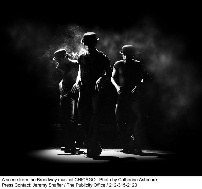 """A scene from the Broadway musical """"Chicago."""""""