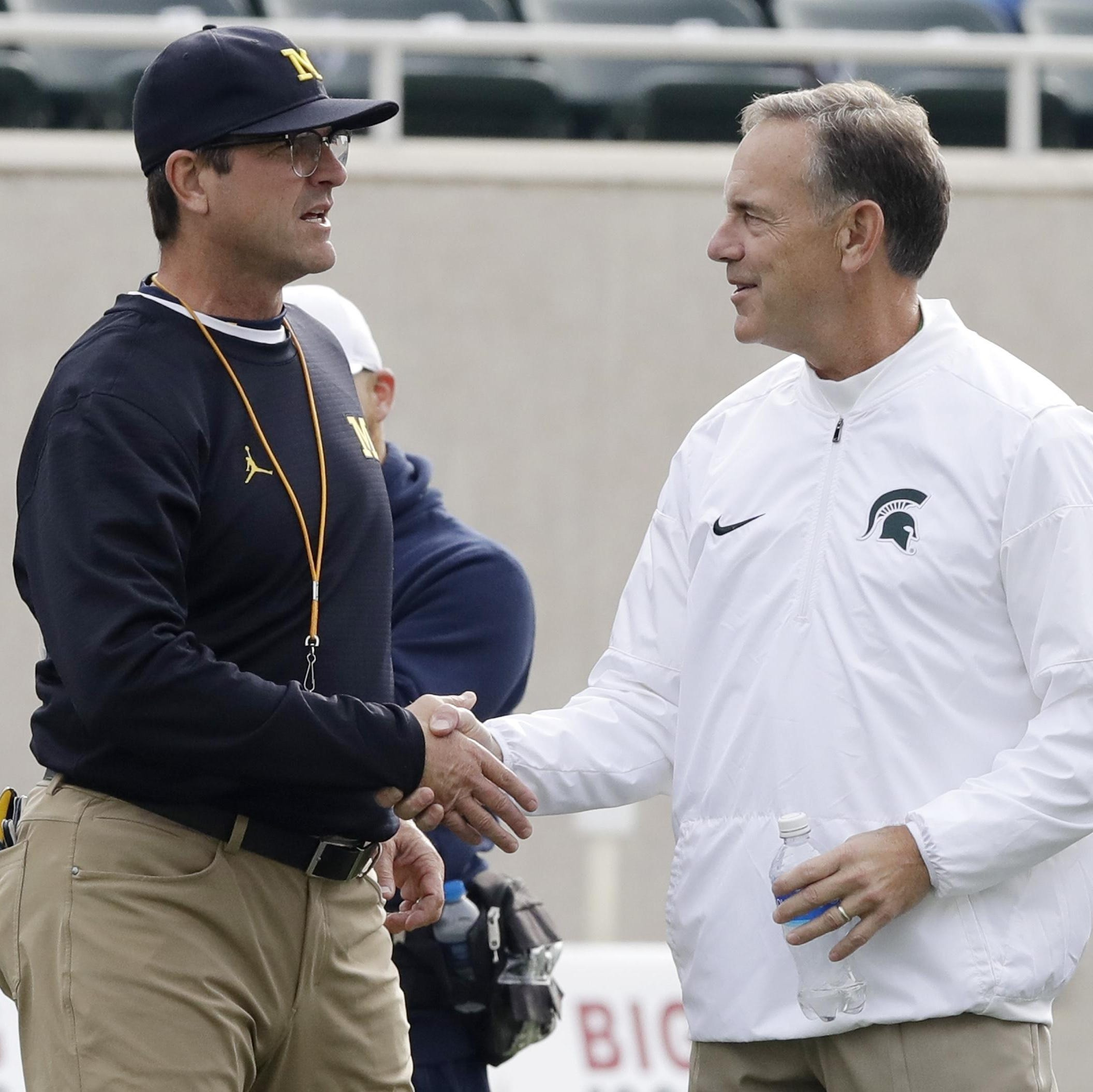 Dantonio, Harbaugh find room for respect in annual clash