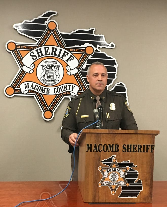 Macomb County Sheriff Anthony Wickersham gives details Friday on allegations of criminal sexual conduct involving a doctor at the county jail.