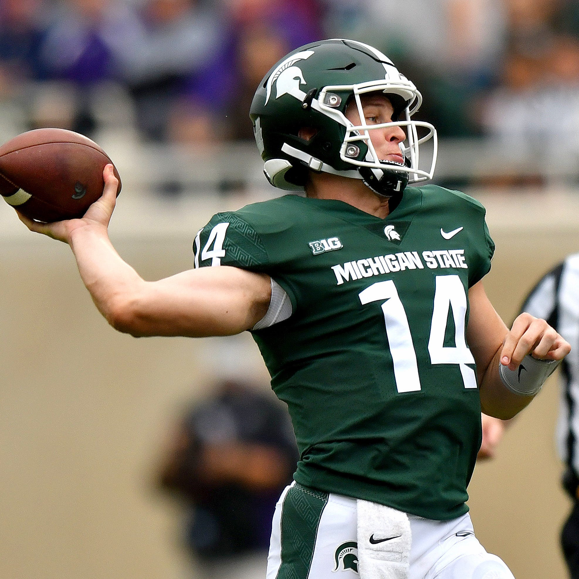 Once an outsider, MSU's Lewerke in middle of rivalry