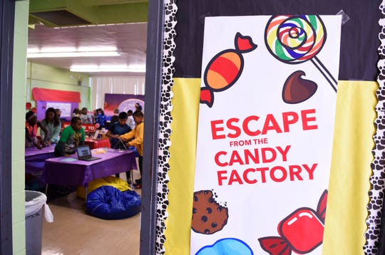 Owen Intermediate School in Belleville created a CandyLand-like escape room for learning English language arts.