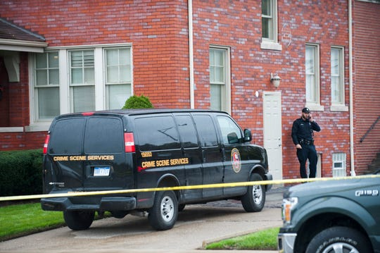 "Detroit Police execute a search warrant at Perry Funeral Home in Detroit Friday afternoon, October 19, 2018. ""We served a warrant there,"" Detroit Police Chief James Craig said. ""We're looking for evidence of improper disposal of remains or any other improprieties."""