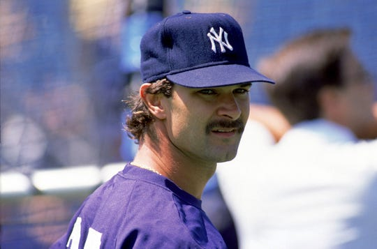 Don Mattingly #23 of the New York Yankees looks on during batting practice prior to a game against the Toronto Blue Jays during the 1988 MLB season at SkyDome in Toronto, Ontario.