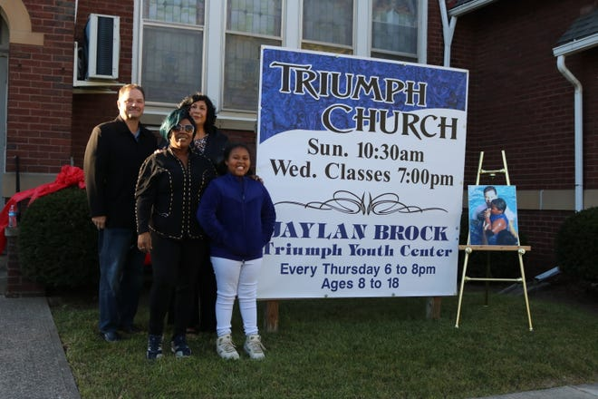 The Jaylan Brock Triumph Youth Center opened at the Triumph Church, 622 Franklin Ave. in Fremont on Thursday.
