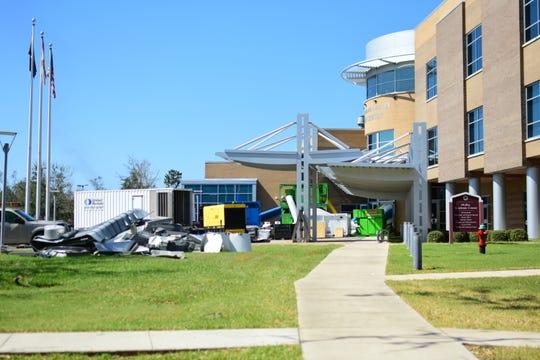 Generators powering the Florida State University Panama City campus.