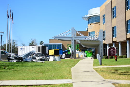 Generators powering the Florida State University Panama City campus.