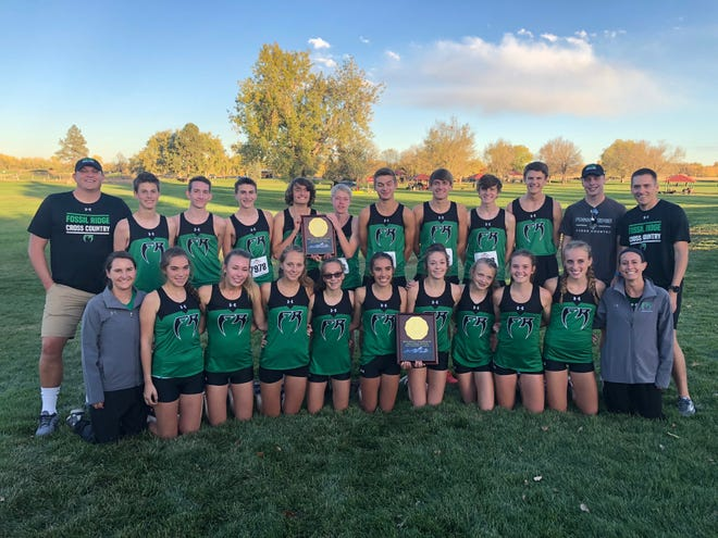 The Fossil Ridge boys and girls cross country teams won regional titles at Thursday's Region 5 meet at Brighton.