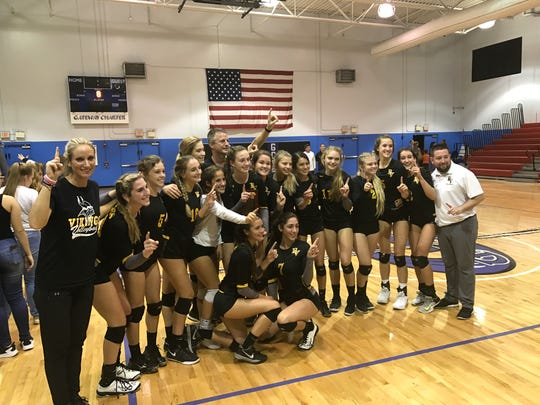 Bishop Verot defeated Community School of Naples 26-24, 25-23 and 25-21 to win the District 5A-10 championship, marking the 20th district title in the last 21 seasons for the Vikings.