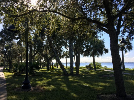 Bayshore Live Oak Park lies to the west of land Allegiant Travel Co. will transform into an upscale waterfront resort along Charlotte Harbor. Through an agreement with Charlotte County government, Allegiant will extend the park's boardwalk and its public access, onto resort grounds.