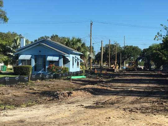 Main Street in the unincorporated Charlotte Harbor area is being widened, as part of Allegiant Travel Co.'s development agreement with Charlotte County. This photo was taken on Oct.  18, 2018.