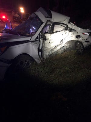 A crash involving a pickup truck and a sedan killed one adult and one child Thursday night in Lehigh Acres, authorities said.
