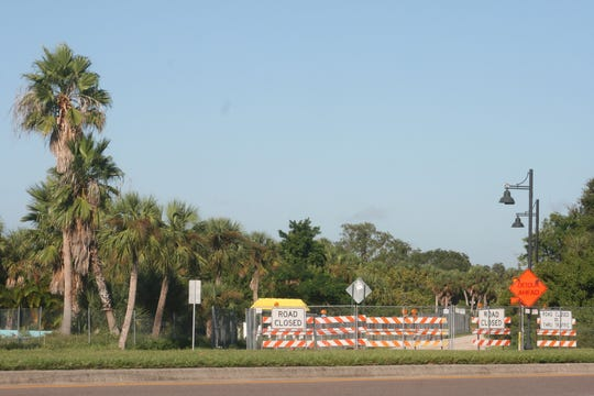 Charlotte Harbor's Bayshore Road is closed to U.S. 41 while Allegiant transforms land along that road into an upscale waterfront resort. This photo was taken on Oct. 18, 2018.