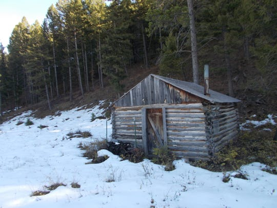 A homestead cabin still stands on Dan Barrett's land on the Rocky Mountain Front near Steamboat Mountain. This area could become a the site of a new public trail head and campground after a sale of the land between Barrett and the Rocky Mountain Elk Foundation is finalized.