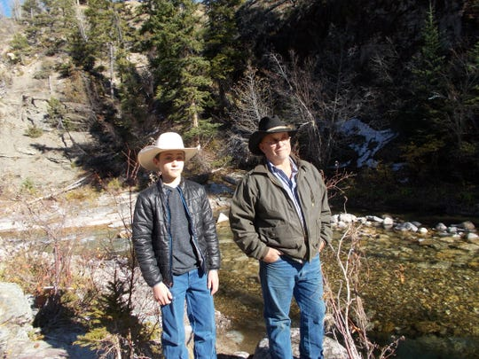 On Friday, Dan Barrett and his son, Wyatt, took a tour of land that the Barretts are planning to sell to the Rocky Mountain Elk Foundation.